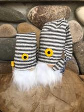 Gray striped hat gnome (lg & sm)