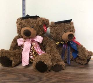 Grad bears with K Grad 2019 ribbon