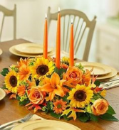 Great-full Fall dinner table centerpiece