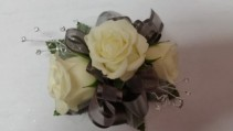 Great Gray Corsage or Wristlet