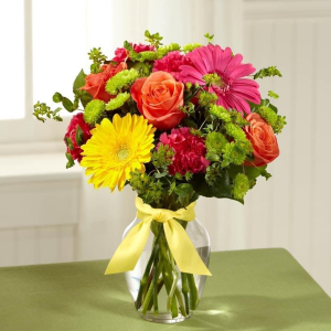 Variety for MOM mixed vase arrangement in Mitchell, ON | FLORAL TREASURES