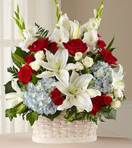 Greater Glory™ Basket basket of flowers