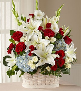 Greater Glory Funeral Basket in Richland, WA | ARLENE'S FLOWERS AND GIFTS