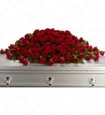 Greatest Love Casket Spray fresh arrangnment