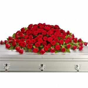 GREATEST LOVE CASKET SPRAY  Funeral Flowers