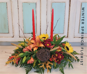 Grateful Gathering  Centerpiece  in Winter Springs, FL   WINTER SPRINGS FLORIST AND GIFTS