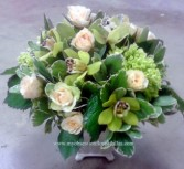 Green and peach Fresh floral