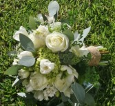 GREEN AND WHITE FLOWERS Wedding Bridal Bouquet