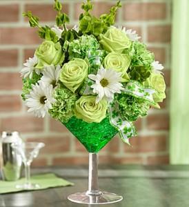 Green Apple Martini  St. Patrick's Flowers