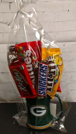 Green Bay Packers Candy Bouquet Cup Call for other teams available