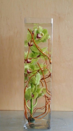 Green Cymbidium Orchid tower
