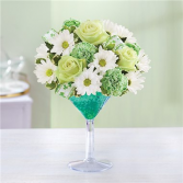 Green Dublin Cocktail Floral Arrangement