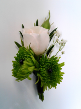 Green Envy Boutonniere