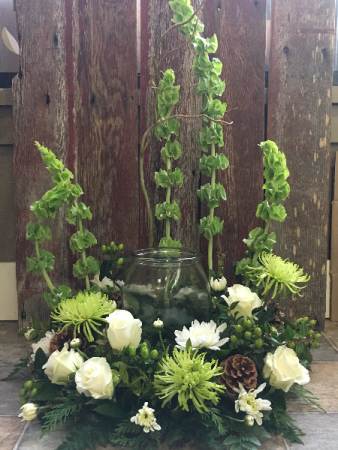 Green Garden Cremation Flowers