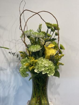 Green goddess vase