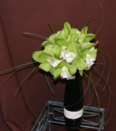 Green Orchid Bouquet Bridal Bouquet