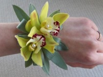 Green orchid corsage prom