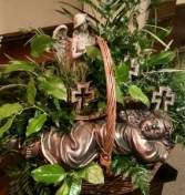 Green Plants with Angels & Crosses
