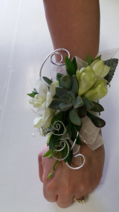 Green Royalty  Prom Corsage