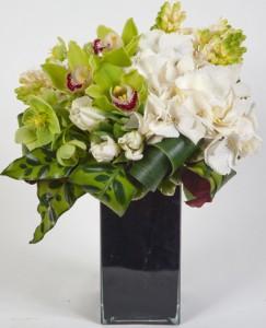 Green Sapphire A True Gem of Green Orchids and Hydrangea