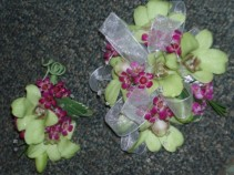 Green Sensation Corsage and Boutonniere set
