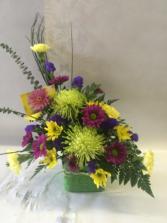 Green Spider Mum Floral Arrangement