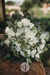 Green & white  Bridal Bouquet