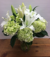 Green & White Celebration Arrangement