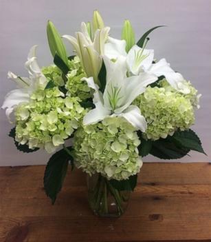 Green & White Celebration Arrangement