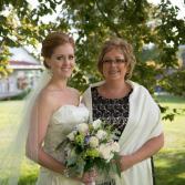 Green with Envy bridal Bouquet Blossom Shops Wedding