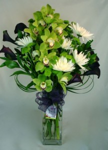 Green Zen Orchids and Callas
