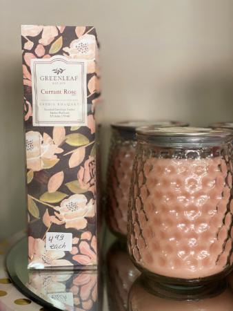 Greenleaf's Current Rose Scent   Gift Item - Candle Line