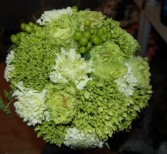 Greens and Whites Wedding Bouquets