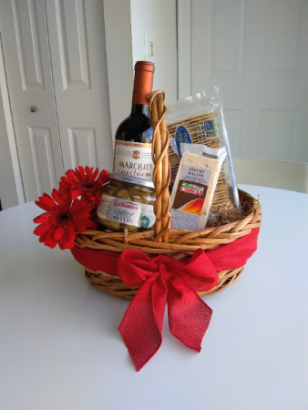 Greensical gourmet gift basket