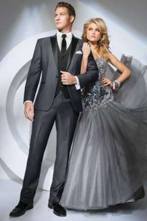 Grey Tony Bowls Prom Tux
