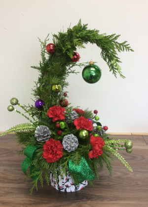 Grinch Christmas Tree Christmas Arrangement in Clarenville, NL | SOMETHING SPECIAL GIFT & FLOWER SHOP