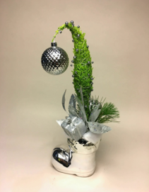 Grinch In a Boot Christmas Arrangement