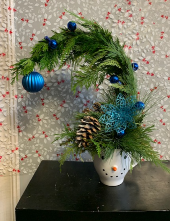 Grinch snowman mug Flower Arrangement