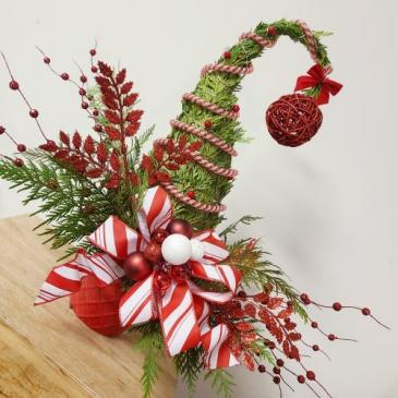 Grinch Tree Arrangement