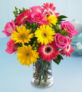 "Grower Direct's ""Be Bright"" Vase Arrangement"