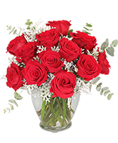 Guilty Pleasure Dozen Roses in Port Jefferson Station, New York | MALKMES FLORISTS & GHSES.