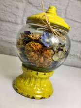 Gum Ball Jar Potpourri  Dried Scented Blooms