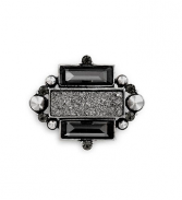 Gunmetal Quartz & Crystal Pin Gift Shop