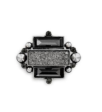 Gunmetal Quartz & Crystal Pin Gift Shop