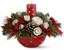 Holiday Star Floral Centerpiece