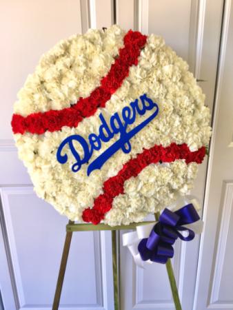 Dodgers Baseball Arrangement POPULAR