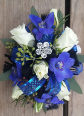 Fabulous Blue and White Corsage