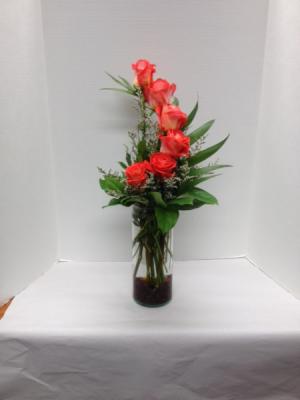 Half a Dozen Crescent Vase Arrangement in Brenham, TX | THE FLOWER MARKET