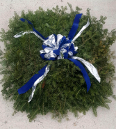 Half Blanket with Double Bow Cemetery Decoration