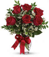 Half Dozen Roses Red Rose Arrangement
